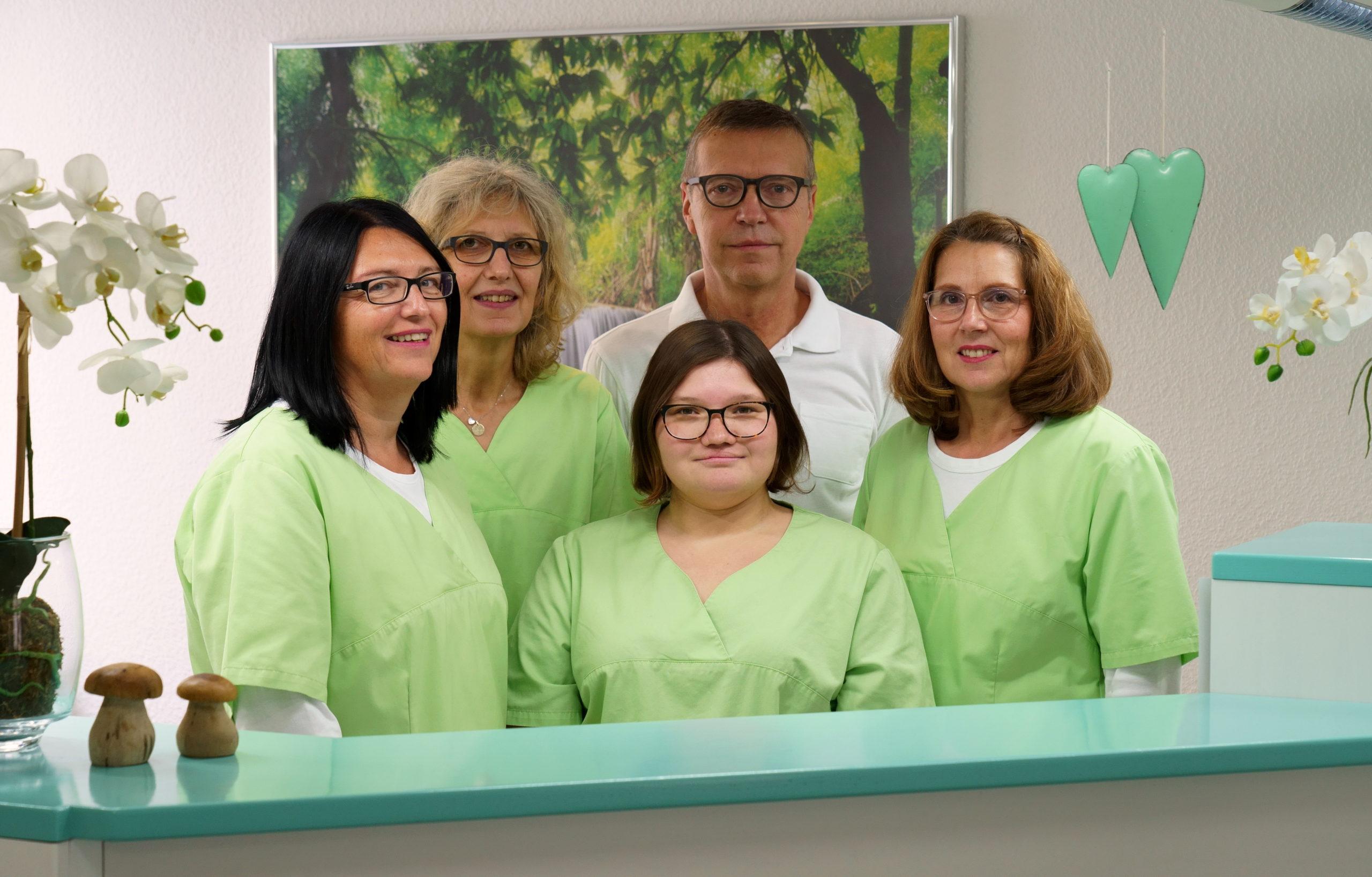 Das Praxis Team der Zahnarztpraxis Gustav Rapp